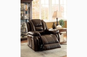 Ronan Dark Brown Recliner