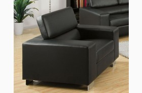 Makri Black Bonded Leather Match Chair
