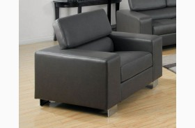 Makri Gray Bonded Leather Match Chair