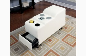 Kemi White Speaker Console