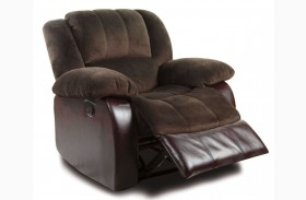 Winslow Rustic Brown Bonded Leather Match Recliner