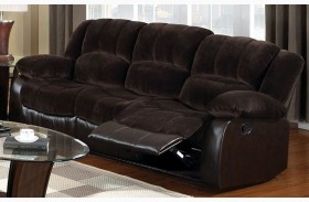 Winslow Rustic Brown Reclining Sofa