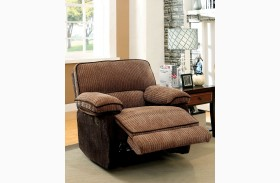 Hazlet Brown Chenille Fabric Chair