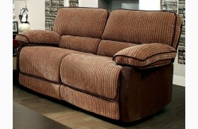 Hazlet Brown Chenille Fabric Loveseat