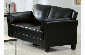 Pierre Black Loveseat