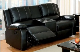 Gaffey Black Reclining Loveseat
