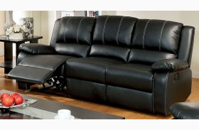 Gaffey Black Reclining Sofa
