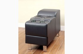 Kemina Black Bonded Leather Match Speaker Console