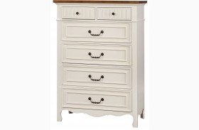Galesburg White and Oak Chest