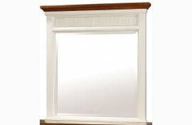 Galesburg White and Oak Mirror