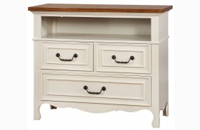 Galesburg White and Oak Media Chest