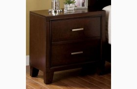 Enrico I Brown Cherry Nightstand