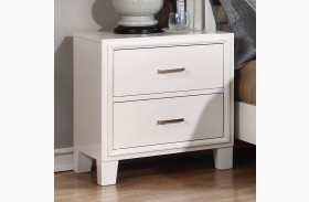 Enrico I White Nightstand
