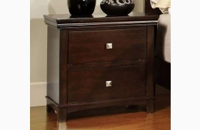 Pebble Brown Cherry Nightstand