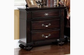 Syracuse Dark Walnut Nightstand