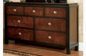 Patra Acacia and Walnut Dresser