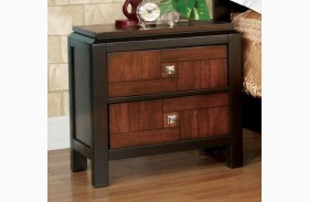 Patra Acacia And Walnut Nightstand