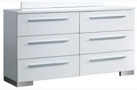 Clementine Smooth White Dresser