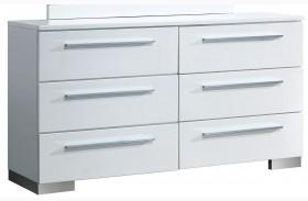Clementine Smooth White Dresser