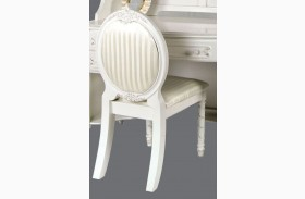 Alexandra Pearl White Fabric Chair