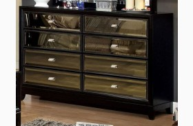 Golva Black 6 Drawer Dresser