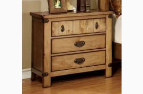 Pioneer Burnished Pine Nightstand