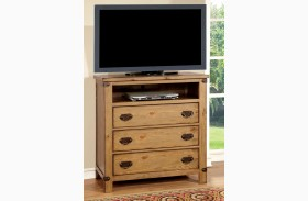 Pioneer Burnished Pine Media Chest