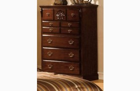 Tuscan II Glossy Dark Pine Chest