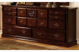 Tuscan II Glossy Dark Pine Dresser