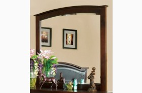 Crest View Brown Cherry Mirror