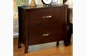 Midland Brown Cherry Nightstand