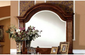 Bellagrand Antique Tobacco Oak Mirror