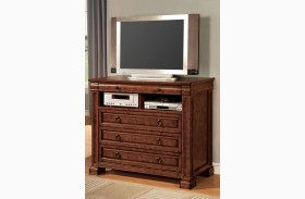 Cambridge Rich Tobacco Oak Media Chest