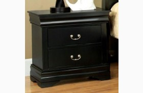 Laurelle Black Nightstand