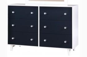 Alivia Blue & White Dresser