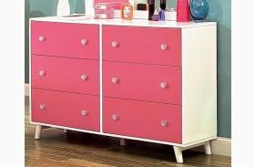 Alivia Pink & White Dresser