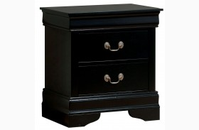 Louis Philippe III Black Nightstand