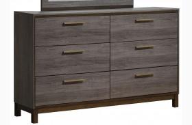Manvel Dark Gray Dresser