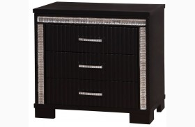 Alver Sleek Black Nightstand