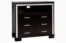 Alver Sleek Black TV Chest