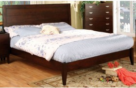 Crystal Lake Brown Cherry Queen Platform Bed
