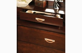 Crystal Lake Brown Cherry Jewelry Drawers