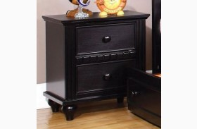 Caspian Black Nightstand