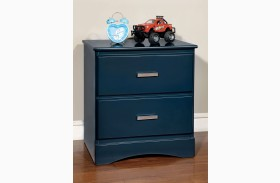 Prismo Blue Nightstand