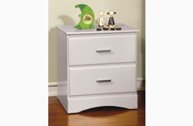 Prismo White Nightstand