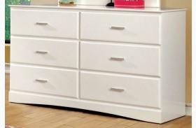 Prismo White Dresser