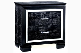 Bellanova Black Nightstand