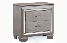 Bellanova Silver Nightstand