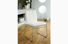 Oahu White Leatherette Side Chair Set of 2