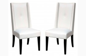 Elements Cole White Technohyde Dining Chair Set of 2